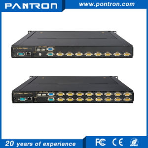 remote KVM access and control 17 inch 8 port/16 port VGA over IP kvm Switch pictures & photos