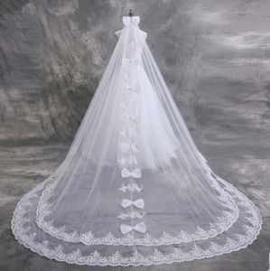 2017 Cathedral Lace Edge Wedding Bridal Veil with Comb (Dream-100097) pictures & photos