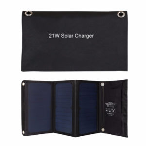 21W Foldable Solar Panel Bag Charger with Dual USB for iPhone6s 7 Android Samsung iPad pictures & photos