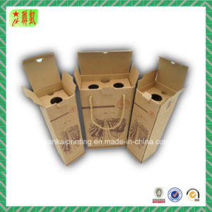 Luxury Square Corrugated Paper Wine Box pictures & photos
