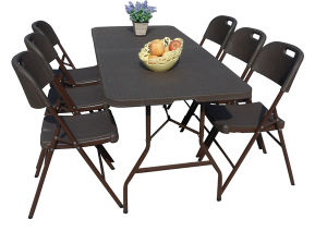 Rattan Design 6FT Folding in Half Table pictures & photos