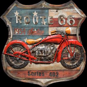 China Manufacturer Acrylic Painting Wall Art for Rout 66 Motor pictures & photos