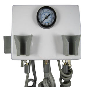 Dental Portable Turbine Unit Wall Mount with Air Compressor Triplex Syringe pictures & photos