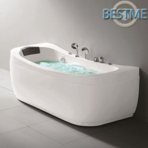 Factory Outlet Sanitary Acrylic Massage Bathtub pictures & photos