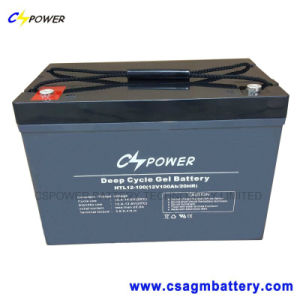 12V100ah Solar Power Gel Battery for Storage, Htl12-100 pictures & photos