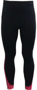Women′s Knitted Pants with Allover Reflective Print on Inserted Fabric Sportswear pictures & photos