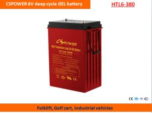 Cspower 6V380ah Deep Cycle Gel Battery for Folklift pictures & photos
