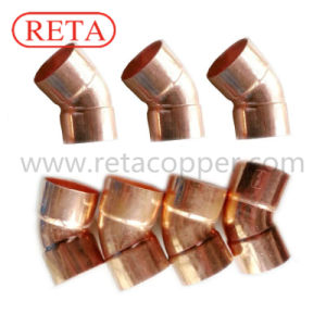 Short Elbow 45 Degree Copper Fitting for Plumbing pictures & photos