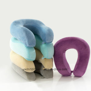 Soft Plush Material Memory Foam Neck Pillow pictures & photos