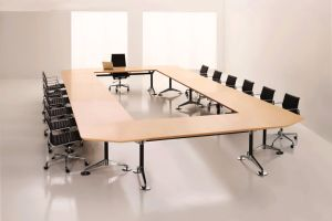 Steel Metal Base MFC Wooden Conference Table /Conference Desk (NS-NW317) pictures & photos