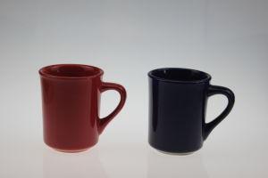 10 Oz Ceramic Tea Mug with Color Glazed pictures & photos