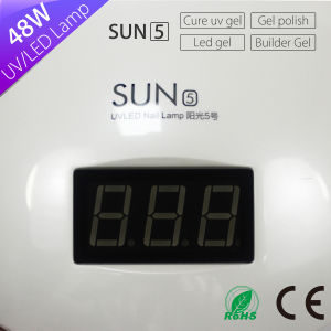 48W UV Gel Polish Nail Lamp with Low Heat Mode High-End LCD Display pictures & photos