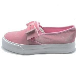 Lint Bowknot High Quality Casual School Women Ladies Student Shoes pictures & photos