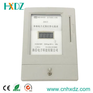 Single Phase Two Wire Electronic Prepaid Energy Meter pictures & photos