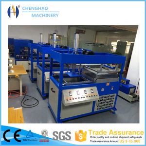 Supplying Good Quality Single Working Station Food Tray Vacuum Thermoforming Machine pictures & photos
