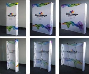 Exhibition Display Trade Show Booth Fabric Hop up Display TV Stand pictures & photos