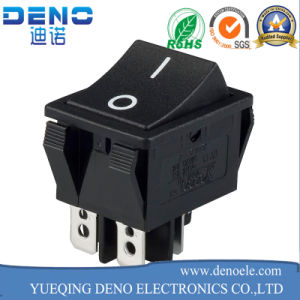 Kcd3-3 Double Rocker Switch 6 Terminals Ce TUV Electrical Switch pictures & photos
