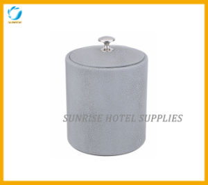 Guestroom Leatherette Grey Ice Bucket pictures & photos
