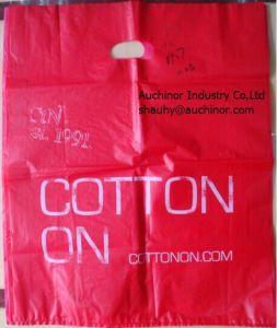 Rigid Handle Bag Die Cut Carrier Bag Door Knob Die Cut Bag Patch Handle Bag Poly Die Cut Bag Boutique Bag Poly Handle Bag Shopping Bag Garment Bag pictures & photos