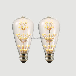 LED wire lights Factory Energy Saving ST64 E27 4W LED Filament Candle Bulb pictures & photos