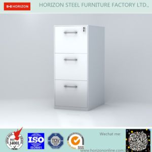 Steel Vertical File Cabinet Office Furniture with 3 Drawers and Recess Handles/Storage Cabinet for Geman Market