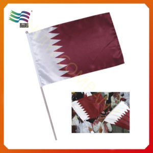 Polyester Custom Small Hand Wave Flag (HYHF-AF076) pictures & photos