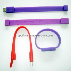 Custom Silicone Wristband USB Flash Drive Silicone USB Bracelet pictures & photos