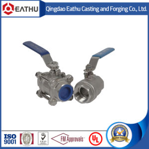 ASME B16.34 Stainless Steel 1000wog 3PC Full Bore Threaded Ball Valves pictures & photos