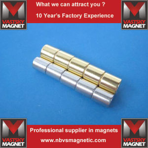 Sintered Permanent Earth N52 Strong Powerful NdFeB Neodymium Cylinder Magnet pictures & photos