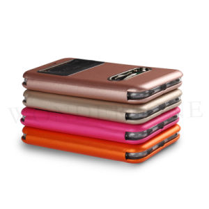 New Cell Phone PU Leather Case with Window for iPhone 6 pictures & photos