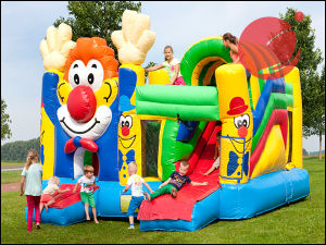 Outdoor Inflatable Hands up Clown Bouncy Slide Toy (T3-611) pictures & photos
