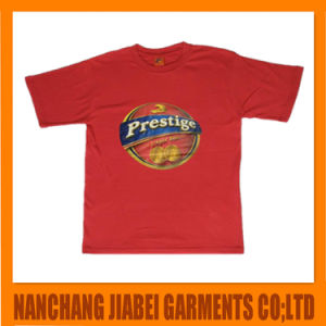 Men′s Promotion T-Shirt 100% Cotton Cheap Price with Heat Transfer Printing pictures & photos