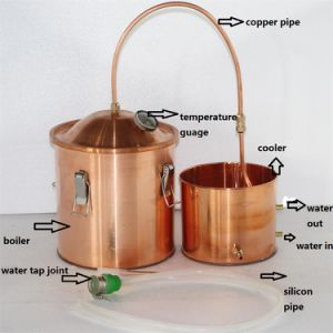 10L/3gal Home Copper Moonshine Distiller Micro Beer Alcohol Distillation Equipment pictures & photos