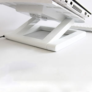 Desktop Folding Laptop Adjustable Stand Notebook Rotatable Holder with Fan pictures & photos