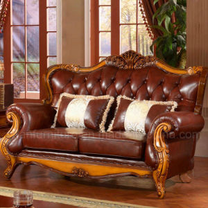 Wood Sofa for Living Room Furniture (992M) pictures & photos