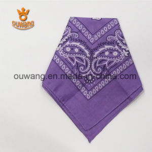 Wholesale Multifunctional Paisley Floral Printed Square Scarf pictures & photos