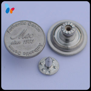 Custom Metal Convex Logo Retro Denim Buttons pictures & photos