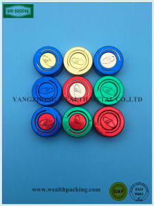 20mm Tear Ring off Cap with Logo pictures & photos