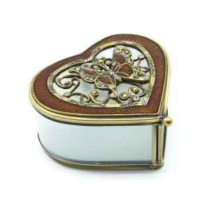 High Quality Custom Glass Metal Jewelry Boxes (Hx-7336) pictures & photos