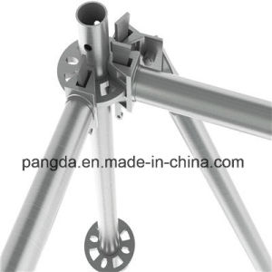 China Hot Selling Steel Pipe Ringlock Scaffolding System pictures & photos