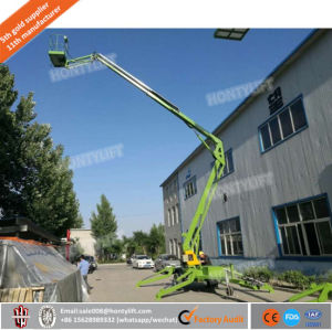 Factory Supply Towable Boom Lift Trailer Mounted Cherry Picker Man Lift with Ce BV ISO pictures & photos