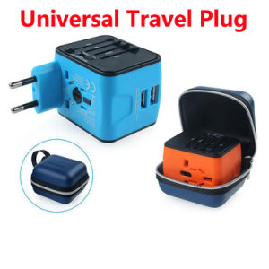 Universal All in One Worldwide Travel Power Plug Wall AC Adapter Charger with Dual USB Charging Ports for Us/EU/UK/Au pictures & photos