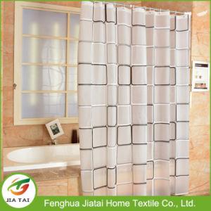 Bath Bathroom Curtain Grid-Point PEVA Waterproof Shower Curtains pictures & photos