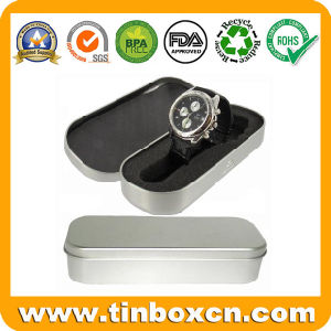 Rectangular Gift Tin Box for Metal Watch Box Packaging pictures & photos