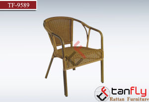 Bistro Aluminum Wicker Bamboo Look Restaurant Chair