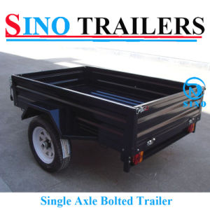 Single Axle Bolted Box Trailer with Customized Cages pictures & photos