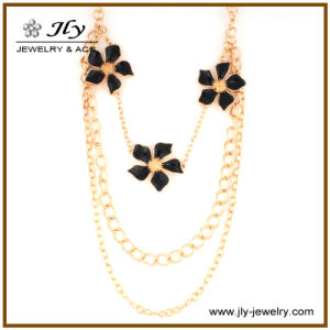 Wholesale Zinc Alloy Flower Gold Plating Enamel Finishing Fashion Jewelry Necklace pictures & photos