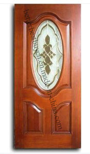 American Style Wooden Door with Glass pictures & photos