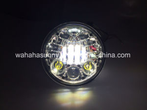 5.75′′ 50W Harley LED Projection Headlight for Motorcycles Black &Sliver Color Available pictures & photos