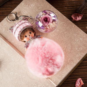 Flower Monchhichi Key Chain for Decoration pictures & photos